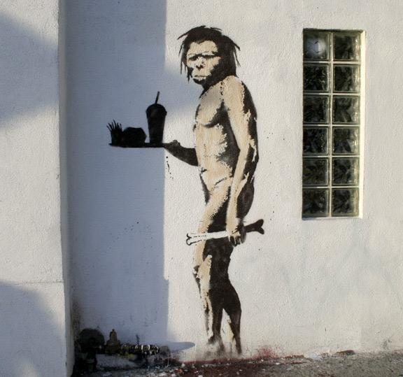 banksy-caveman