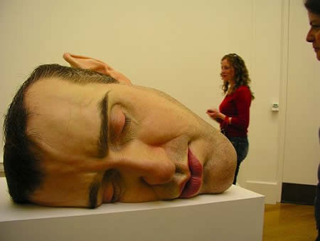 ron mueck mask face